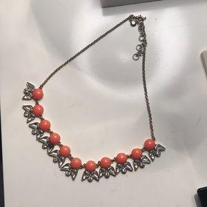jcrew peach statement necklace